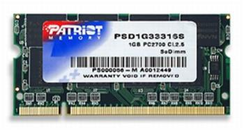PATRIOT SO-DIMM 1GB DDR PC2700 (333MHz)