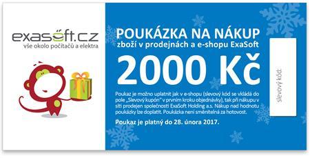 Dárkový poukaz k odběru zboží v hodnotě 2000 Kč