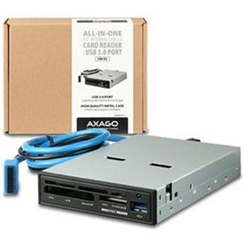 "AXAGO interní 3.5"" 5-slot čtečka + USB 3.0 port; CRI-XS"