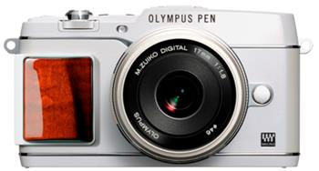 Olympus E-P5 white WOOD Kit + objektiv 14-42 mm silver (V204051WE010); V204051WE010