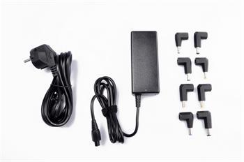 Crono CB10036, univerzální napájecí adaptér, 65W, 2x USB, 8 konektorů; CB10036