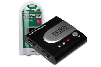 Digitus HDMI elektronický pocket rozbočovač 1 => 2