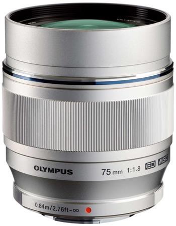 Olympus M.Zuiko Digital ED 75 mm f/1,8 silver; V311040SE000