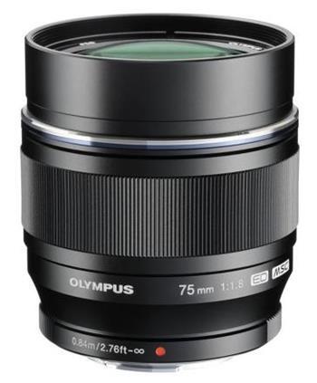 Olympus M.Zuiko Digital ED 75 mm f/1,8 black; V311040BE000
