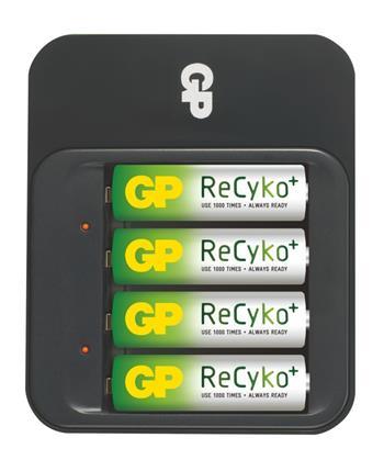GP nabíječka baterií PB550 + 4AA ReCyko; 1604155000