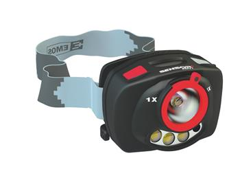 EMOS Čelovka na 3xAAA - 1+2 LED, IR čidlo+fokus; 1441113100