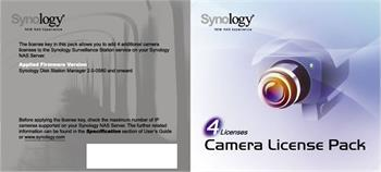 Synology Camera License Pack x 4pack; License Pack 4