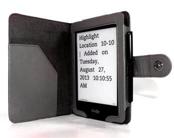 C-TECH PROTECT AKC-06, černé pouzdro pro Amazon Kindle PAPERWHITE/PAPERWHITE 2, WAKE/SLEEP funkce; AKC-06BK