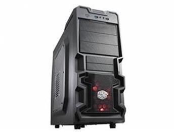 CoolerMaster case miditower K380, ATX,black,USB3.0, bez zdroje