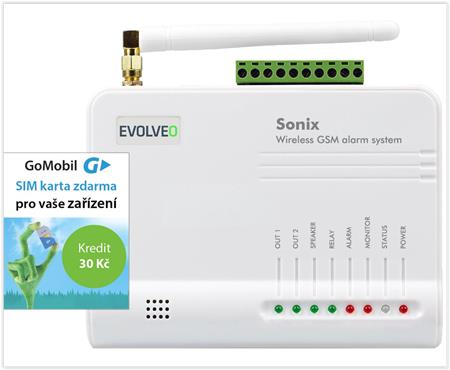 EVOLVEO Sonix - Android/iPhone GSM alarm ALM301; ALM301