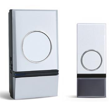 Solight bezdrátový zvonek, do zásuvky, 200m, bílý, learning code; 1L28