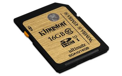 Kingston 16GB SDHC Ultimate UHS-I class 10; SDA10/16GB