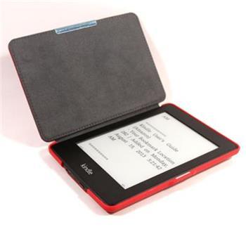 C-TECH PROTECT AKC-05, červené pouzdro pro Amazon Kindle PAPERWHITE/PAPERWHITE 2, hardcover, WAKE/SLEEP funkce,; AKC-05R