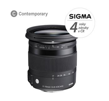 SIGMA 17-70mm F2.8-4 DC MACRO OS HSM Contemporary Sony; 14108200