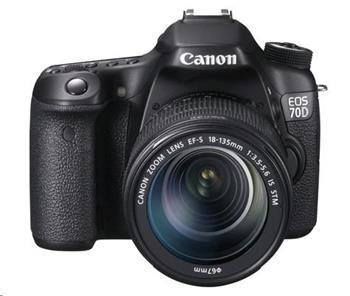 Canon EOS 70D zrcadlovka 20,2Mpix + EF 18-135 IS STM