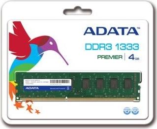 ADATA 4GB DDR3 1333MHz CL9; AD3U1333C4G9-R