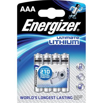 Baterie Energizer Ultimate Lithium AAA 4ks; FR03/4