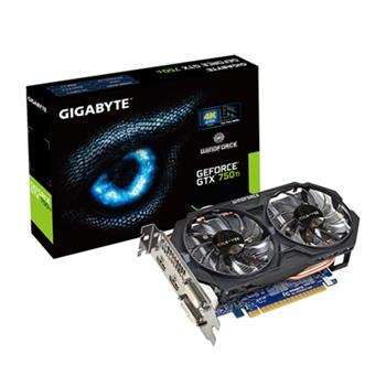 GIGABYTE GTX750 Ti 2GB (128) aktiv 2xD 2xH D5