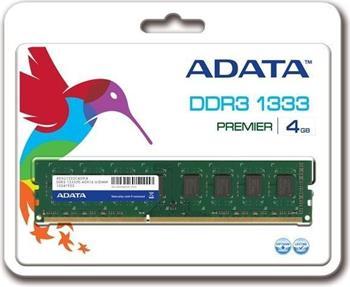 ADATA 4GB DDR3 1333MHz CL9, retail; AD3U1333W4G9-R