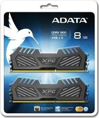 ADATA 8GB (Kit 2x4GB) XPG V2.0 series DDR3 1600MHz CL9 1.5V, chladič TCT