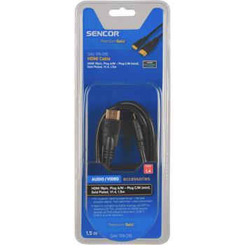 SENCOR HDMI kabel,19 pin,Konektor A/M - konektor C (mini) /M,Pozlacený, kabel, V1.4,(ARC),(HEC)