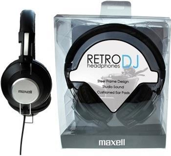 MAXELL 303516 RETRO DJ BLACK sluchátka, přes hlavu; 303516