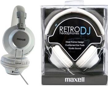 MAXELL 303517 RETRO DJ WHITE sluchátka, přes hlavu; 303517