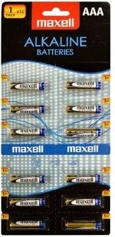 Baterie MAXELL Alkaline AAA 12 ks