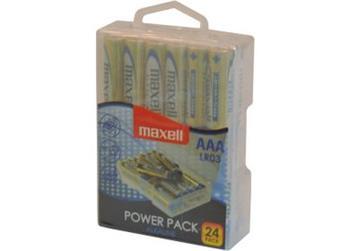 MAXELL Alkalické tužkové baterie LR03 24 BP POWER PACK 35041990