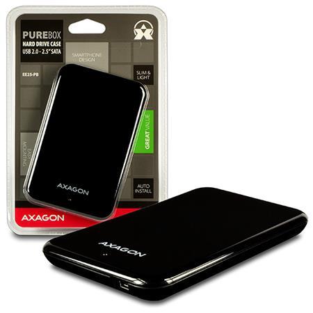 "AXAGO USB2.0 - SATA 2.5"" externí PURE box BLACK"