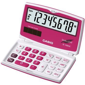 CASIO SL 100NC RD kalkulačka kapesní; SL 100NC RD
