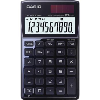 CASIO SL 1000 TW BLACK kalkulačka kapesní; SL 1000TW BK
