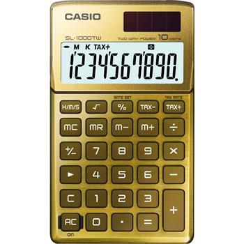 CASIO SL 1000 TW GOLD kalkulačka kapesní