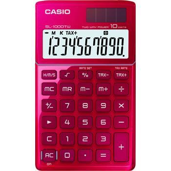 CASIO SL 1000 TW RED kalkulačka kapesní