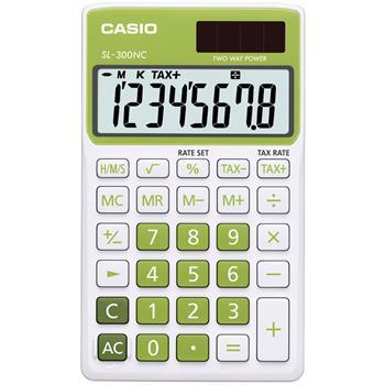 CASIO SL 300 NC/GN kalkulačka kapesní; SL 300 NC/GN