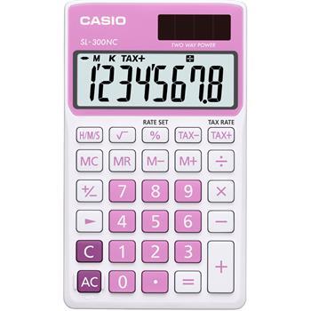 CASIO SL 300 NC/PK kalkulačka kapesní; SL 300 NC/PK