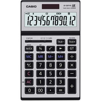 CASIO JS 120TVS SR kalkulačka stolní