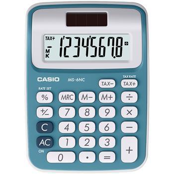 CASIO MS 6 NC/BU kalkulačka stolní