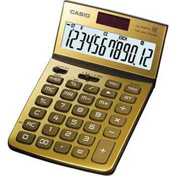 CASIO JW 200 TW GOLD kalkulačka stolní; JW 200TV GO