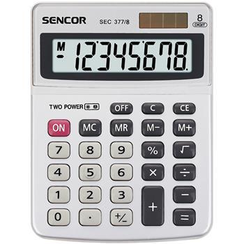 SENCOR SEC 377/ 8 kalkulačka stolní