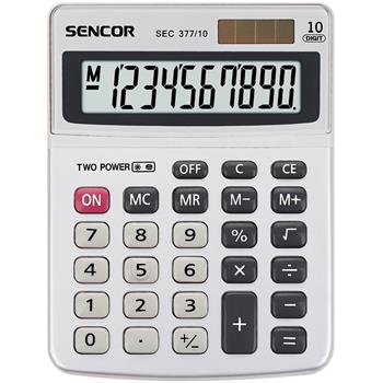 SENCOR SEC 377/ 10 kalkulačka stolní