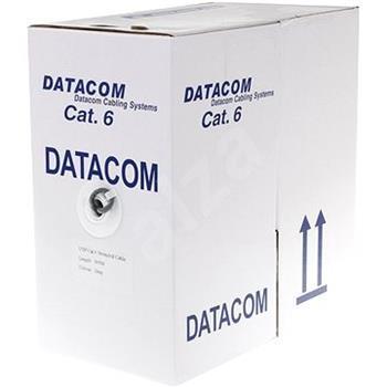 DATACOM UTP drát CAT6 PVC 305m box šedý; 1125