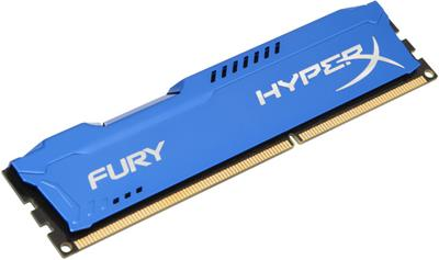 Kingston 4GB DDR3-1600MHz HyperX Fury Blue; HX316C10F/4