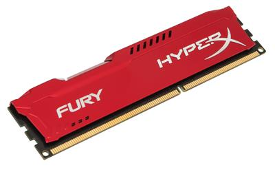 Kingston 4GB DDR3-1600MHz HyperX Fury Red; HX316C10FR/4