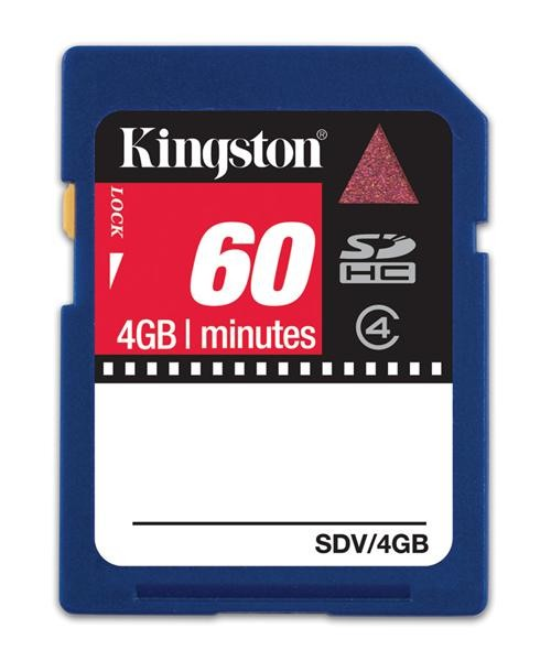 Kingston 60 Min 4gb Sdhc Video Karta Emea Channel Packaging