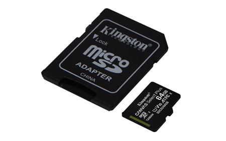 Kingston Canvas Select Plus microSD 64 GB + SD adaptér