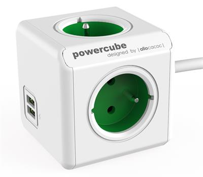 PowerCube Extended (1.5m) USB GREEN