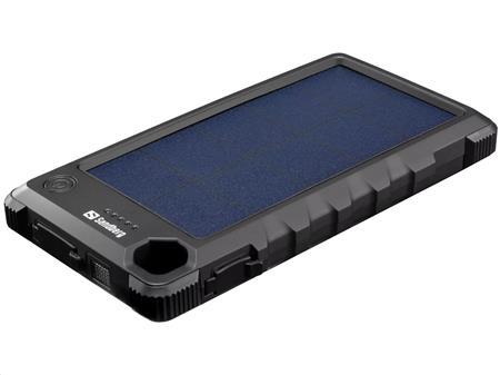 Sandberg Outdoor Solar Powerbank 10000 mAh, solární nabíječka, černá